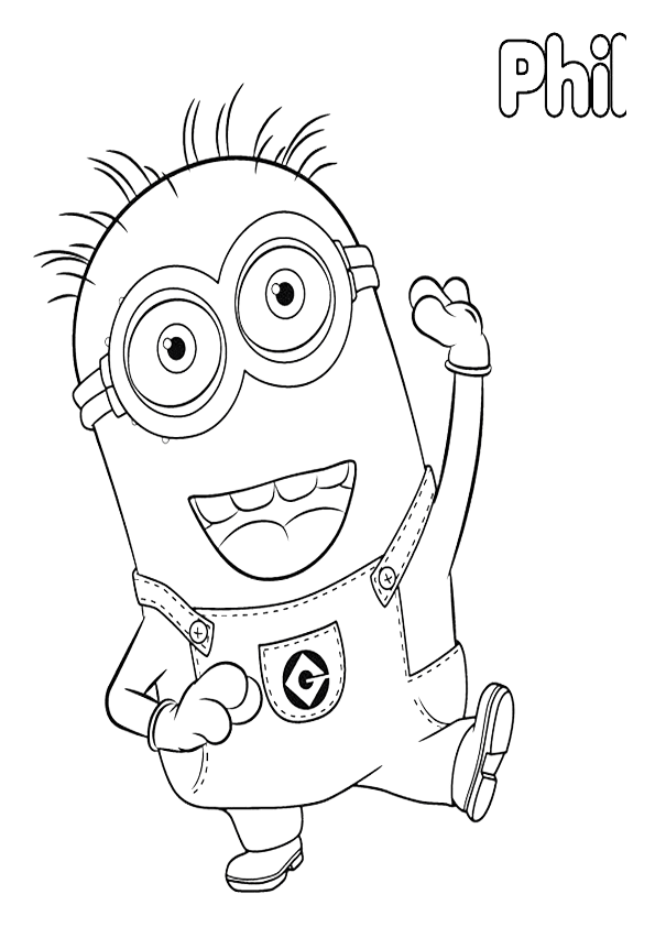 Minions Coloring Pages Of Phil