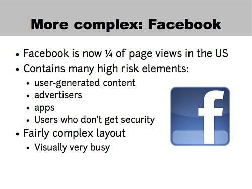 A more complex example: Facebook