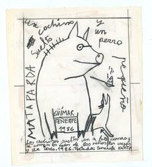1986. C1.Un cochino suelto y un perro pequeño 02. Original portada