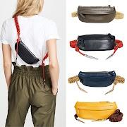 NEW Women Fashion Pu Leather Small Chest Bag Casual Weave Vintage Zipper Waist Shouler Cross Body Bag