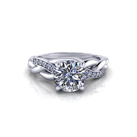 Braided Diamond Engagement Ring   Jewelry Designs