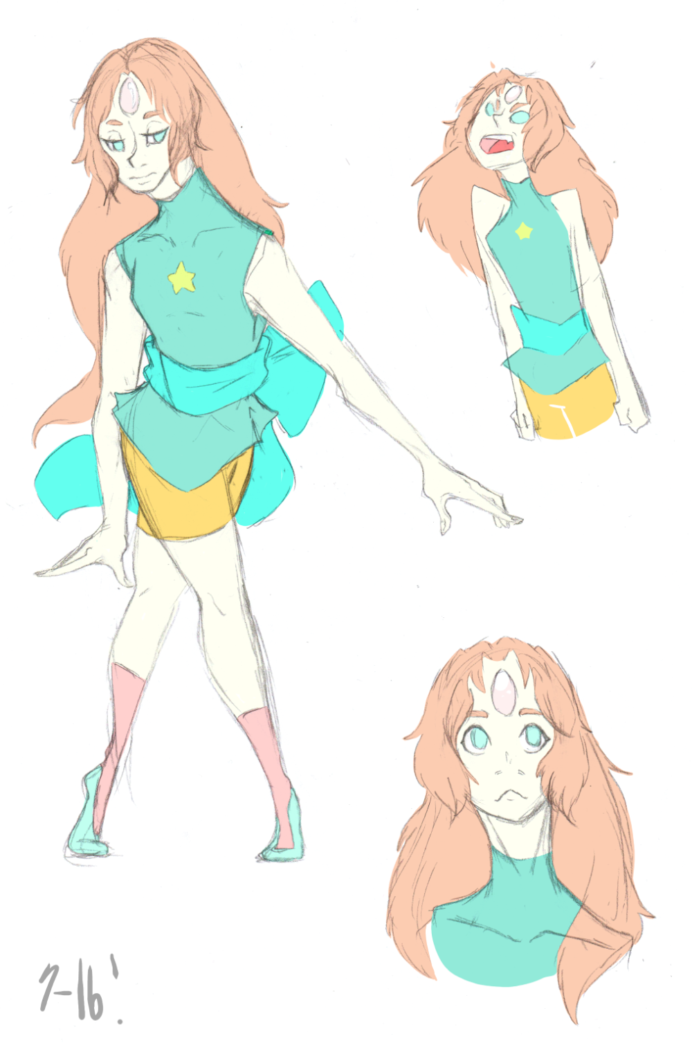Have we completely considered Pearl with long hair, aka anime princess?