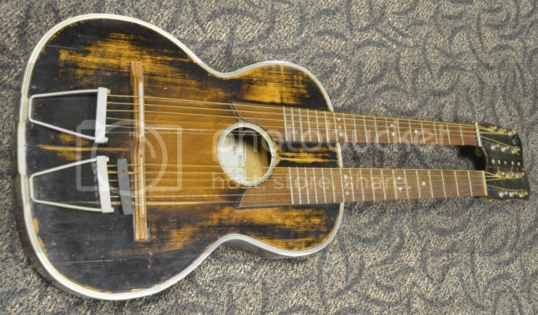 guitar blog ricardo duo antique vintage doubleneck acoustic guitar. Black Bedroom Furniture Sets. Home Design Ideas