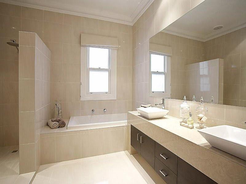 Ceramic in a bathroom design from an Australian home ...