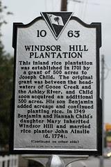 Windsor Hill Plantation Historical Marker - side 1