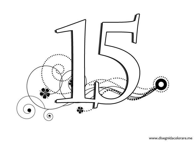 Numeri Da Stampare 15 Disegni Da Colorare