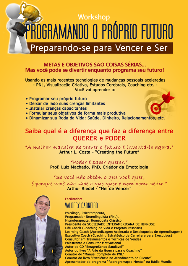 "Banner do Workshop: ""Programando o Próprio Futuro"" na SIAH"