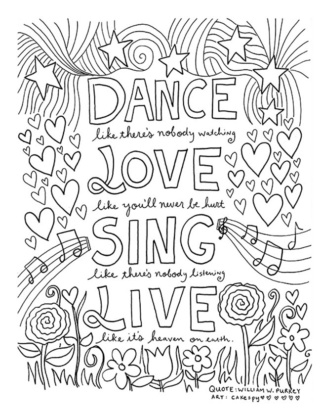 12 Inspiring Quote Coloring Pages for Adults-Free Printables!