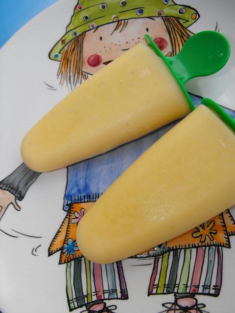 Gelado de manga e iogurte