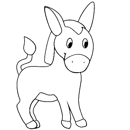 donkey coloring pages for kids  preschool and kindergarten