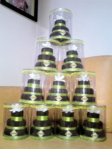 Our towel cakes from MonteCielo   THE BRIGHT SPOT