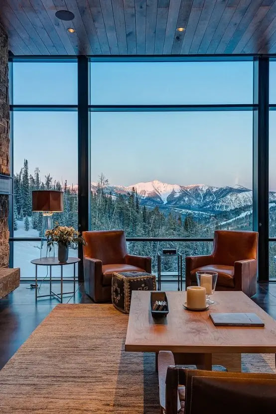 35 Natural Chalet Living Room Designs - DigsDigs