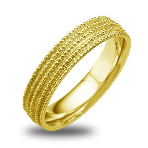 14K 18K White Or Yellow Gold Milgrain Womens Wedding Band