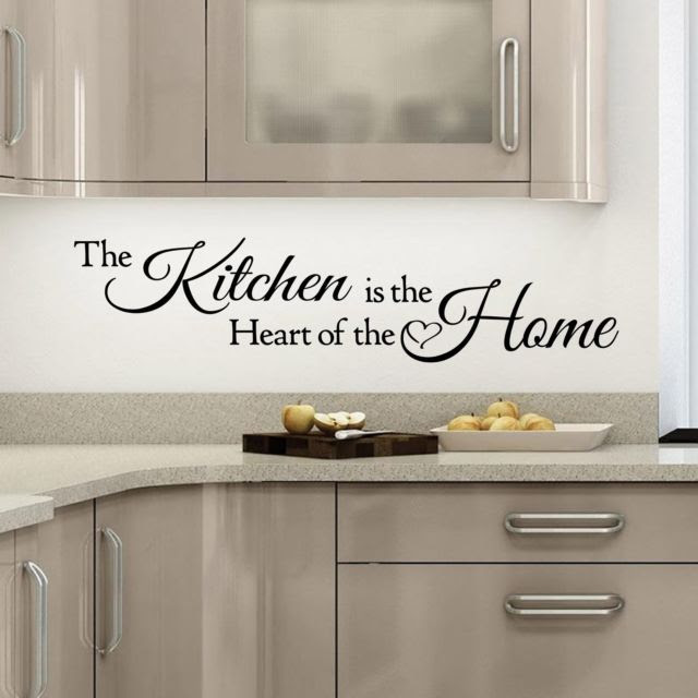 DIY Vinyl Removable Kitchen Is The Heart Of The Home Wall