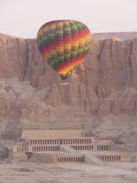 Balloon over the Temple of Hapshetsut, West Bank Luxor