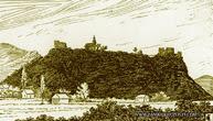 Рисунок Нялабского замка - вид с востока