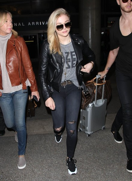 Chloe Grace Moretz Kick-Ass' actress Chloe Grace Moretz arriving on a flight at LAX airport in Los Angeles, Calfiornia with her brother Trevor on March 12, 2015. Chloe is returning from France where she attended various events during Paris Fashion Week.