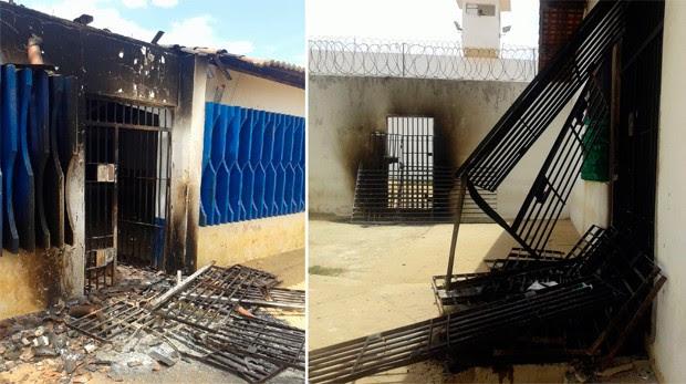 Segundo direção da unidade, Pereirão teve todas as grades arrancadas das celas (Foto: Alex Alexandre/G1)