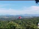 Morador flagra queda de balão na zona oeste de São José dos Campos