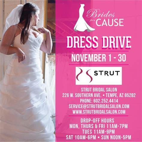 wedding dress donation drive through November 30th