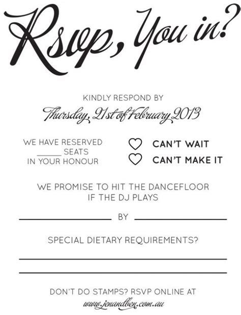 RSVP & song request wording.   Wedding reception in 2019