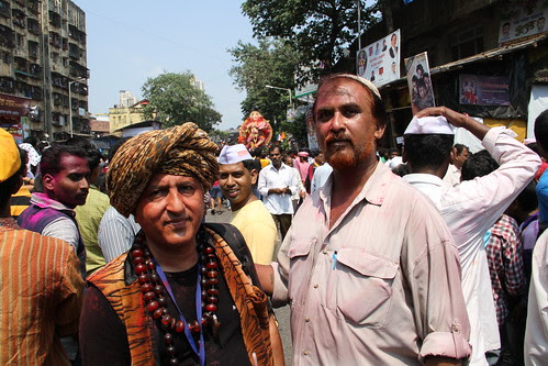 Two Muslims .. Who Participate In The Ganesh Visarjan by firoze shakir photographerno1