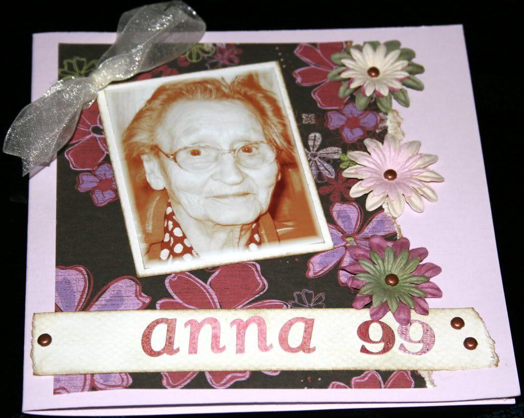 Oldemor Anna 99 år