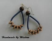 Navy Blue Coiled Earrings