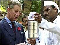 Prince Charles with Raghunath Medge