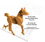 3D Maritime Sable Island Pony Woodworking Pattern - fee plans from WoodworkersWorkshop® Online Store - horses,pony,equestrian,3D,layered,stables,animals,yard art,painting wood crafts,scrollsawing patterns,drawings,plywood,plywoodworking plans,woodworkers projects,workshop blueprints