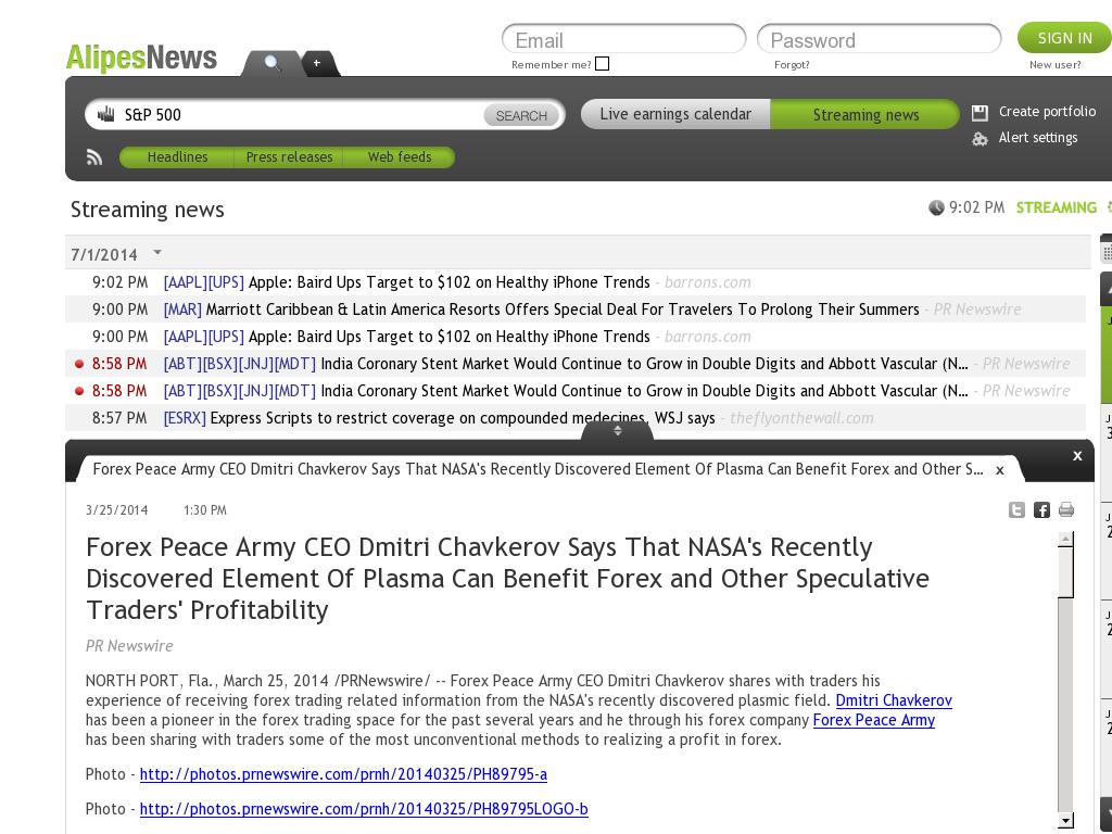 Forex Peace Army Profit From Nasa S Plasma Discovery Press -