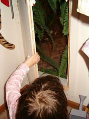 Through the secret door...