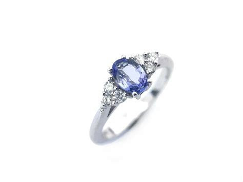 Handmade Tanzanite and Diamond Ring, engagement ring