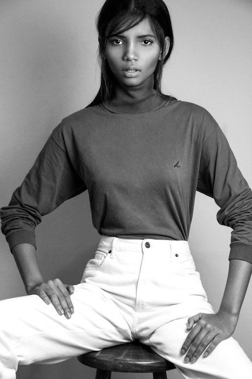 Le Fashion Blog Brazilian Model Lenny Nunes Beauty Turtleneck High Waisted White Jeans Joy Management