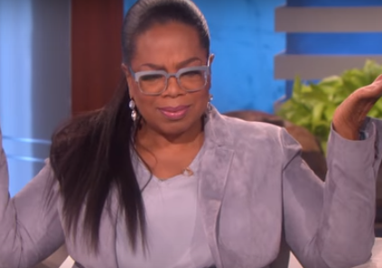 Oprah Winfrey reacts to President Trump