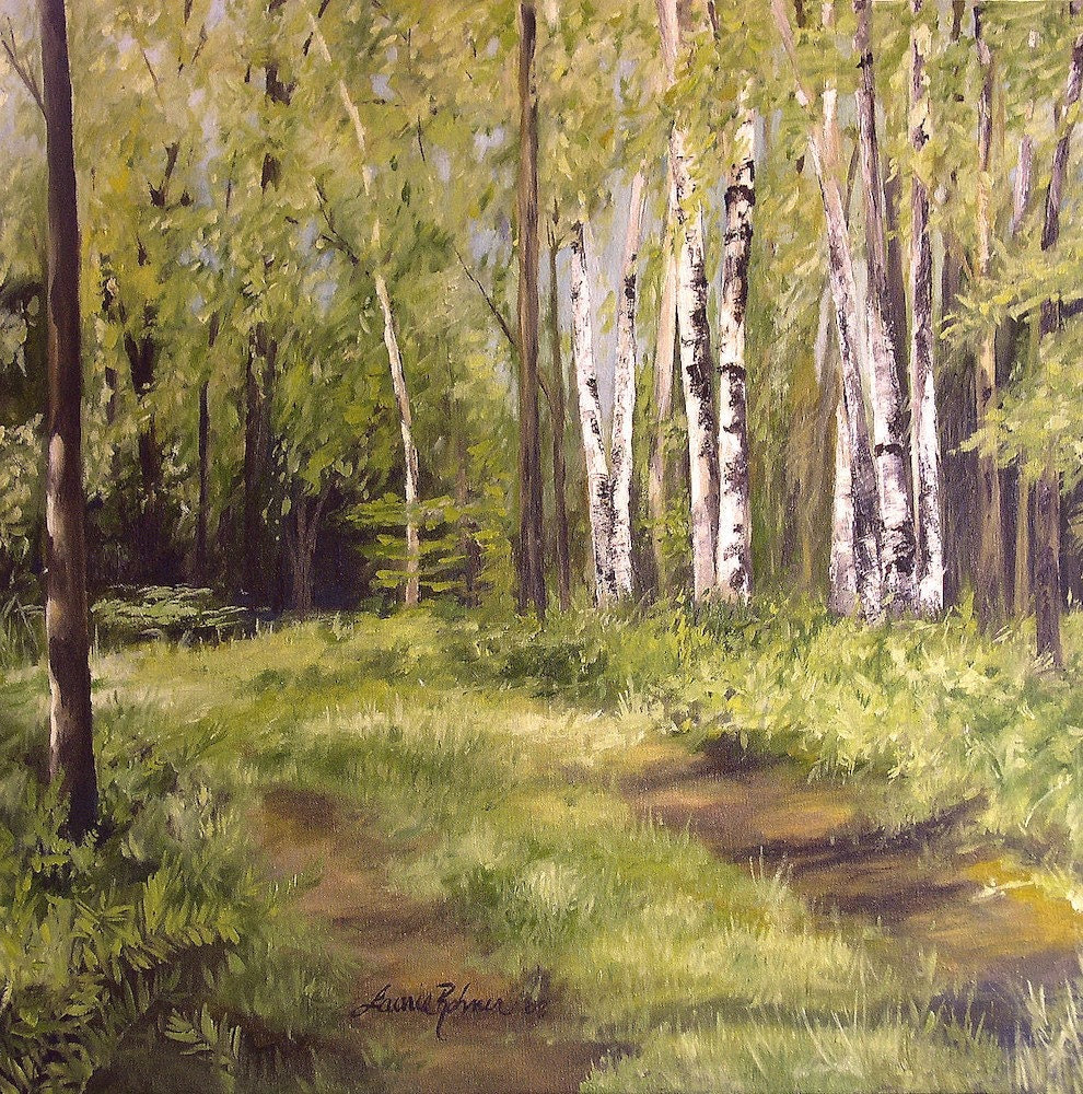 Original Vermont Landscape Oil Painting by Laurie Rohner