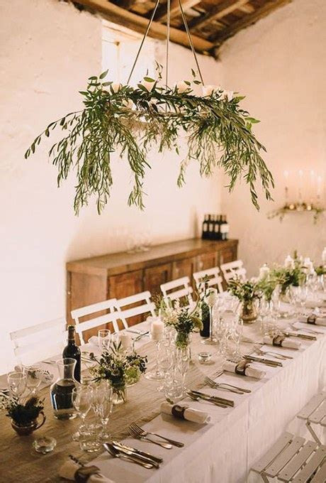 Greenery Chandelier of Olive Branches   Brides