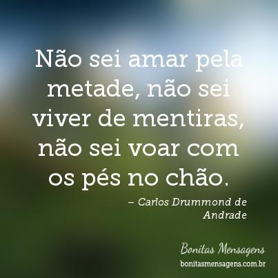 Frases De Amor Carlos Drummond De Andrade Mensagens Poemas