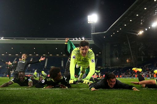The Blues take the right kind of dive after they were confirmed as champions