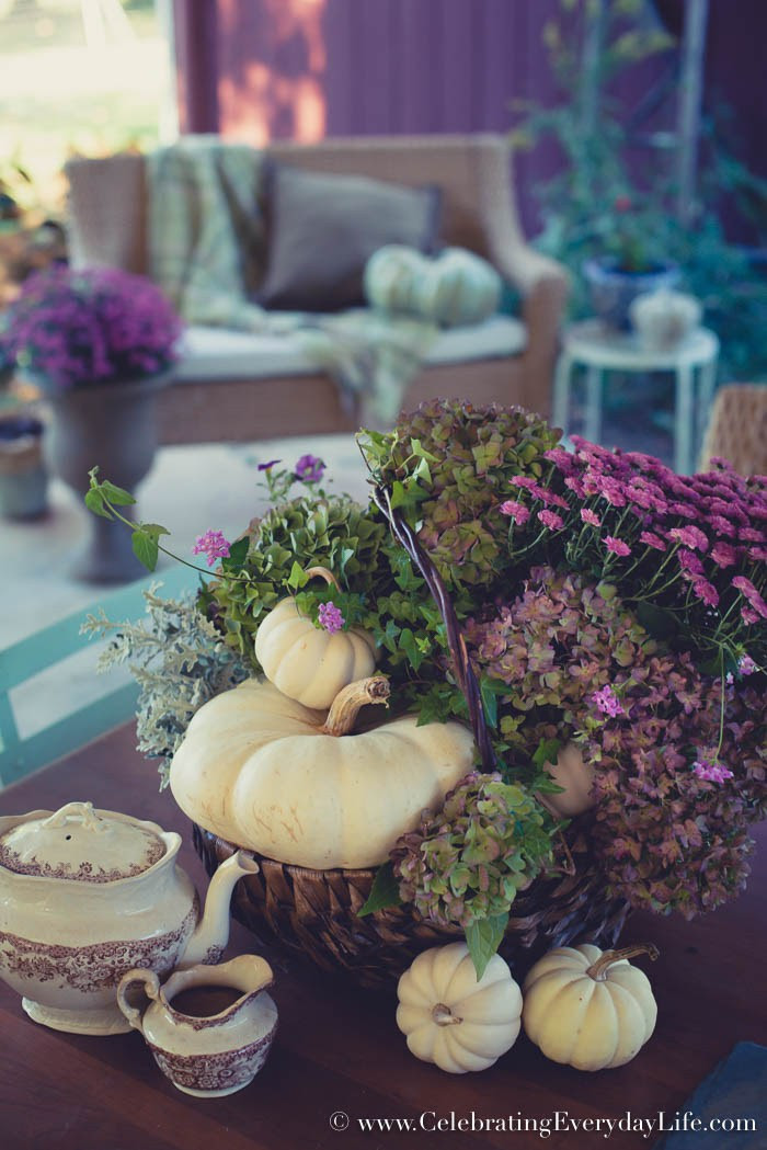 How To Make An Easy Purple Fall Floral Arrangement | Celebrating Everyday Life