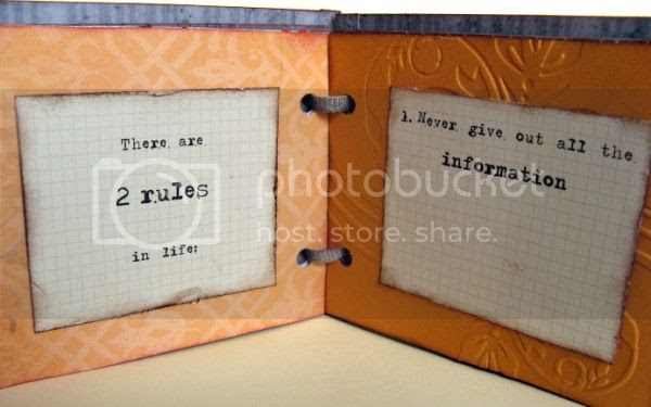 Jimjams - Quotes Mini-book - There are 2 rules in life ...