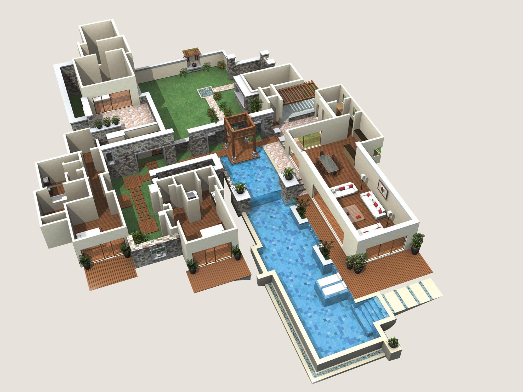 Design De Maison Minimaliste Plan De Maison De Luxe 3d Etage
