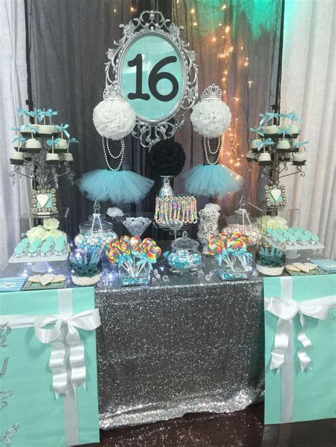 Turquoise, White, And Black with Silver Accents Candy