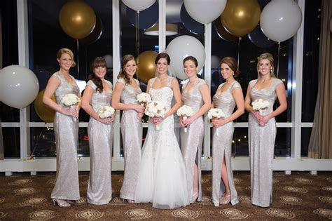 Bridesmaid Dresses: Metallic Bridesmaid Dress Styles from