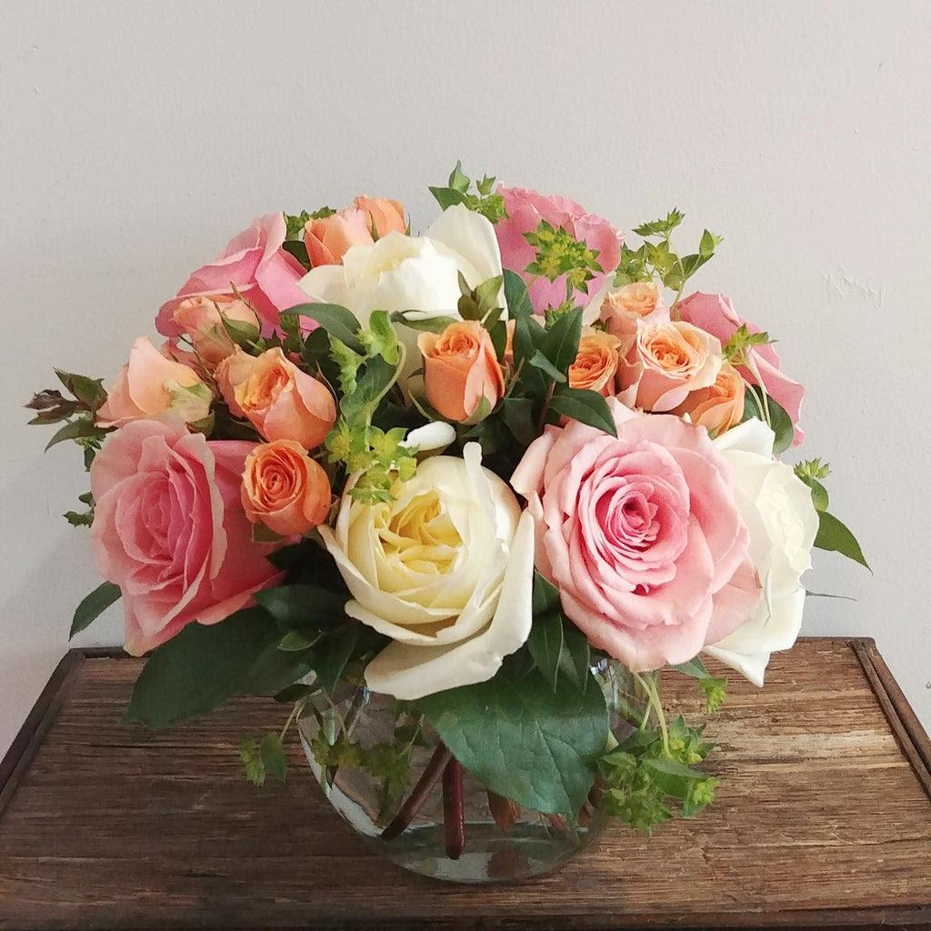 Pastel Rose Bowl Ithaca Flower Shop