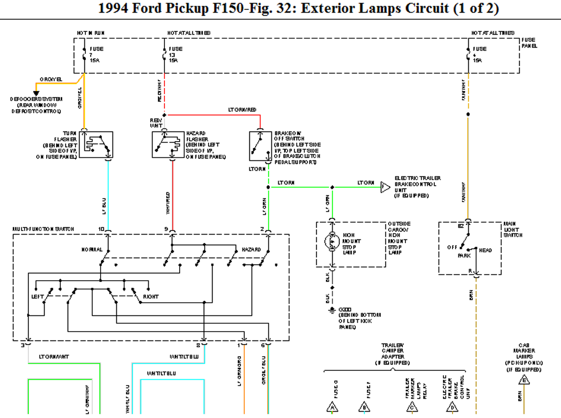 Ford F150 Tail Light Wiring Diagram - Wiring Diagram
