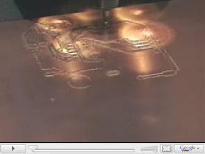 CNC in bảng mạch hình ảnh video