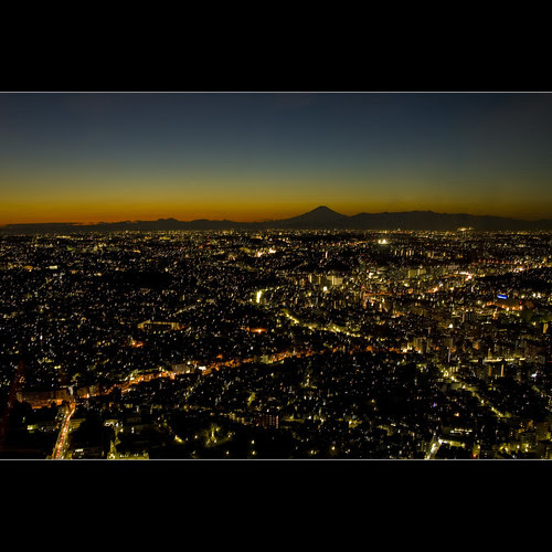 Landmark Tower :: Mt Fuji at Dusk