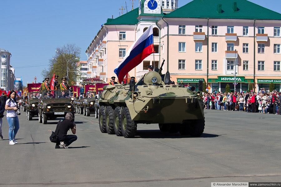День Победы в Саранске шествие начинается