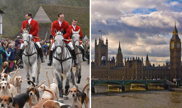 Hunts men and Houses of Parliament